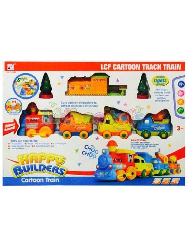 قطار کودکانه با ماشین راهسازی