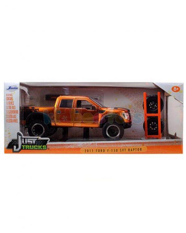 ماکت ماشین فورد راپتور جادا نارنجی