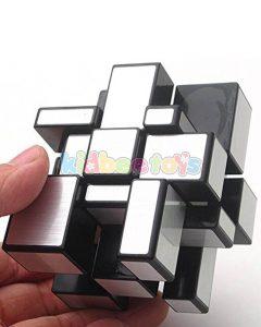بازی فکری مکعب روبیک آیینه نقره ای