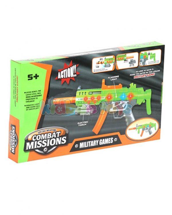 تفنگ موزیکال چراغدار نظامی