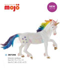 فیگور اسب شاخدار رنگین کمان موژو