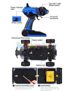 ماشین کنترلی آفرود آبی X-Knight
