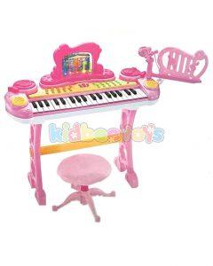 پیانو ارگ کودک با میکروفن صورتی