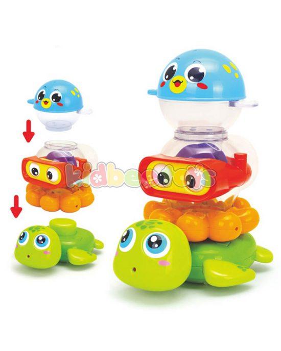 ست حیوانات حمام کودک هویلی تویز