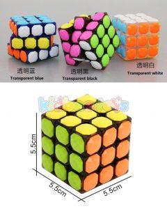 بازی فکری مکعب روبیک شفاف رنگی